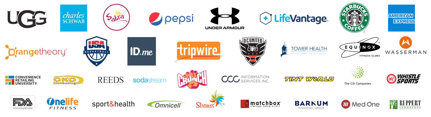 Alan Stein Jr Previous Client Logos